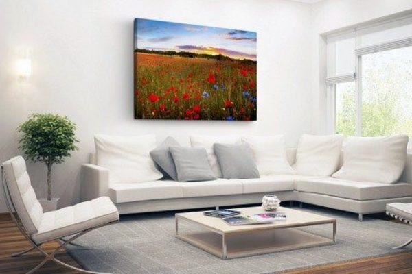 schilderij woonkamer tuin