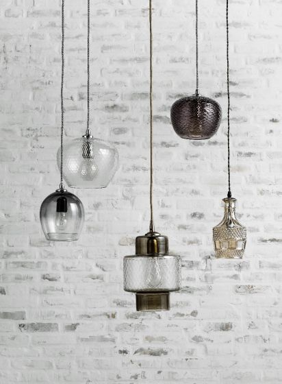 Glazen Hanglamp Smoke