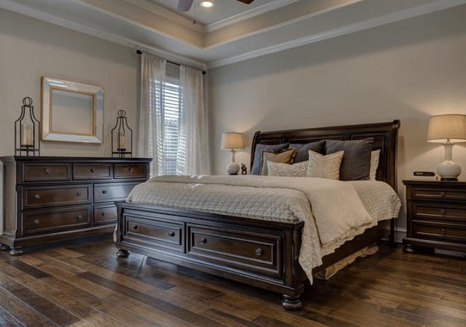 landelijke inrichting slaapkamer
