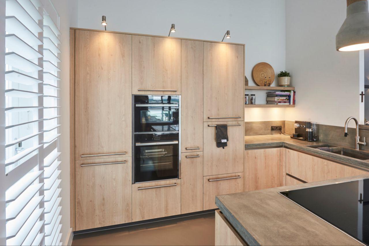 keuken beton hout