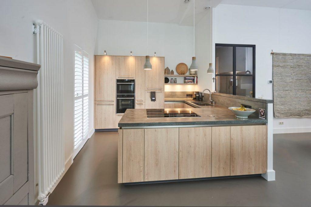 keukeninpiratie beton en hout