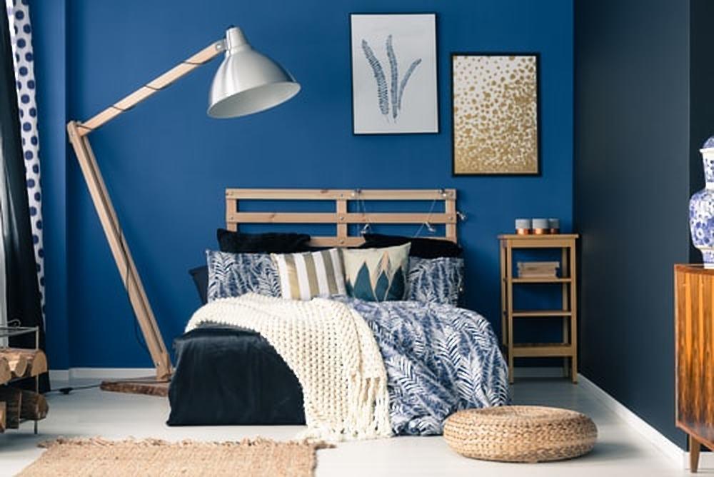 Slaapkamertrend blauw en goud