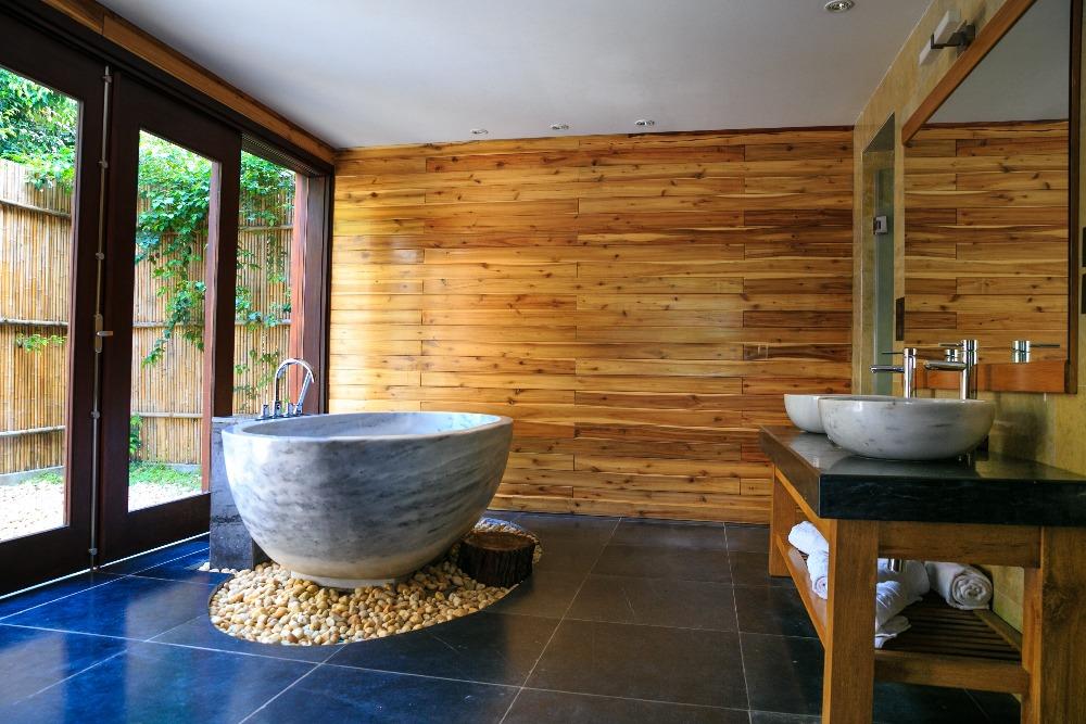 badkamer met hout