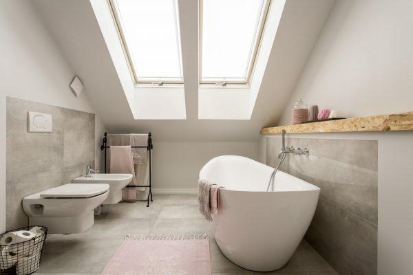 comfortabele badkamer